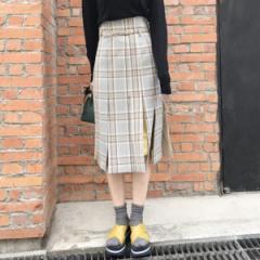 アクアガール(aquagirl)/オータムチェックブラインドプリーツスカート