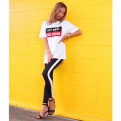 アナップ(ANAP)/BOXロゴロングTシャツ×ラインレギンスセットアップ