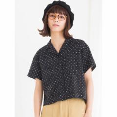 ウィゴー(レディース)(WEGO)/WEGO/開襟クロップドシャツ