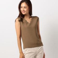 【NEW】ミューズ リファインド クローズ(MEW'S REFINED CLOTHES)/スクエアネックノースリニット