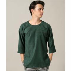 エディフィス(EDIFICE)/メンズTシャツ(LA BOUCLE / ラ ブークル フェイクスウェード フットボールTee)