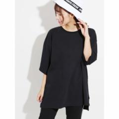 ウィゴー(レディース)(WEGO)/WEGO/サイドスリットビッグ5分袖Tシャツ