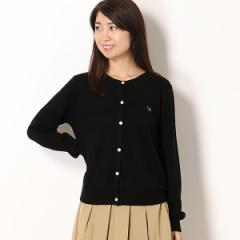 【NEW】フレッドペリー(レディス)(FRED PERRY)/【18AW】TIPPED CREW NECK CARDIGAN
