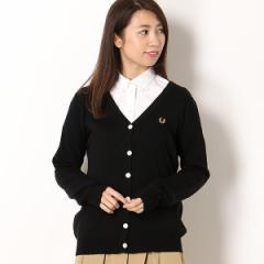 【NEW】フレッドペリー(レディス)(FRED PERRY)/【18AW】TIPPED V−NECK CARDIGAN