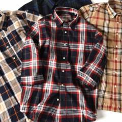 シップス(メンズ)(SHIPS)/SU: ビッグ チェック レギュラーカラー 7スリーブシャツ