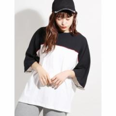 【NEW】ウィゴー(メンズ)(WEGO)/ウィゴー(WEGO/パイピングドルマン7分袖Tシャツ)