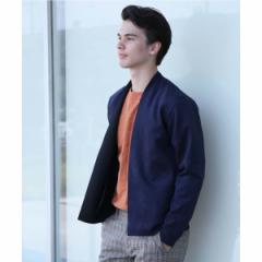 【NEW】エディフィス(EDIFICE)/メンズTシャツ(フェイクスウェードダンボールラップカーデ)