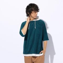 【NEW】ライトオン(メンズ)(Right−on)/【NEOSARTIC】ブークレフードレイヤードTシャツ メンズ