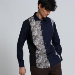 タケオキクチ(TAKEO KIKUCHI)/Mシャツ(パネルラインシャツ [ メンズ シャツ 切り替え ])