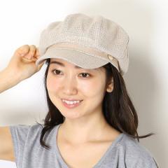 ミーア(帽子)(MiiA)/【サイズ調整・UVケア】MIIAチェックキャスケット(レディース/帽子/雑貨)