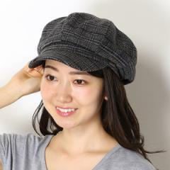 デュラス(帽子)(DURAS)/【サイズ調整・UVケア】DURASグレンチェックキャスケット(レディース/帽子/雑貨)