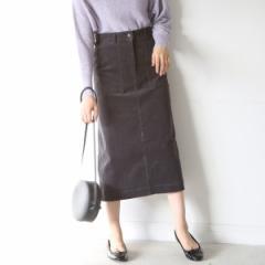 コーエン(レディース)(coen)/コーデュロイストレッチタイトロングスカート