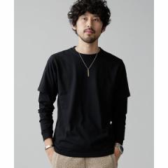 ナノ・ユニバース(メンズ)(nano universe)/【WEB限定】【18AW】2パックルーズレイヤードTシャツ