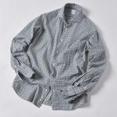 シップス(メンズ)(SHIPS)/SD:ウォッシュド ギンガムチェック ネルシャツ (グリーン)