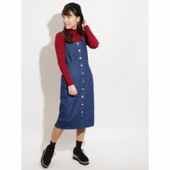 ウィゴー(レディース)(WEGO)/WEGO/前ボタンナロージャンパースカート