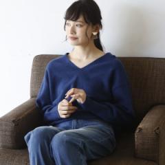 コーエン(レディース)(coen)/【手洗いできる】ラムウールVネックニット