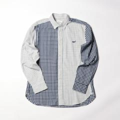 ノーリーズ メンズ(NOLLEY'S)/クジラ刺繍ボタンダウンネルシャツ