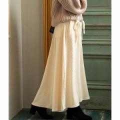 ビス(ViS)/【WEB限定】カットソーコーデュロイフレアスカート