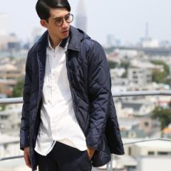 コーエン(メンズ)(coen)/LIMONTA(リモンタ)×KOMATSU(小松精練)キルトフーデッドコート