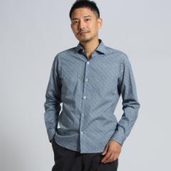 タケオキクチ(TAKEO KIKUCHI)/Mシャツ(【PNJ】籠目プリントドレスシャツ[ メンズ シャツ ])