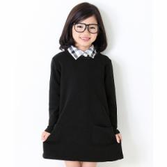 デビロック(devirock)/子供服 トップス キッズ 韓国子供服 女の子 スウェットワンピース Aライン ワンピース