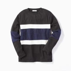 【NEW】ライトオン(メンズ)(Right−on)/【CERONIAS】キリカエ長袖Tシャツ メンズ