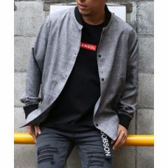 ヴァンスエクスチェンジ メンズ(VENCE EXCHANGE)/リブ使いシャツブルゾン