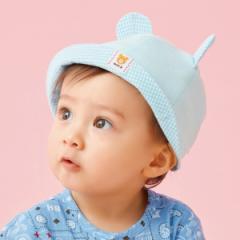 ミキハウス ホットビスケッツ(MIKIHOUSE HOT  BISCUITS)/帽子(ベビー / くまみみ・ギンガムチェック)