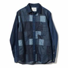 【NEW】ビームス ライツ(メンズ)(BEAMS LIGHTS)/BEAMS LIGHTS / インディゴ パッチワーク レギュラーシャツ