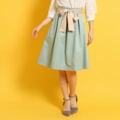クチュールブローチ(Couture Brooch)/【WEB限定サイズ(LL)あり】【洗える】ベルテッドハイウエストタックスカート