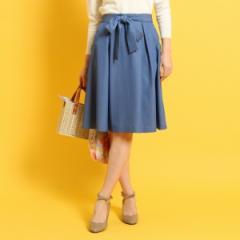クチュールブローチ(Couture Brooch)/◆【WEB限定サイズ(LL)あり】【洗える】リボンベルト付きスカラップポケットスカート