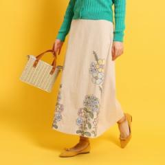 クチュールブローチ(Couture Brooch)/フラワー刺しゅうロングスカート