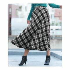 アナップ(ANAP)/バイヤスチェックフレアスカート