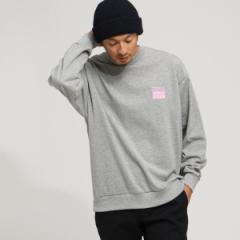 ベース ステーション(メンズ)(BASE STATION Mens)/【WEB限定】スクエアロゴ リブ付き長袖Tシャツ