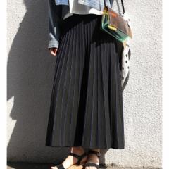 ビス(ViS)/【WEB限定】配色ニットプリーツスカート