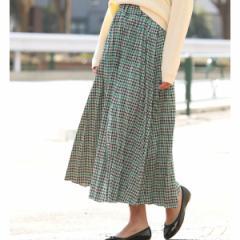 ビス(ViS)/【WEB限定】チェックジャガードプリーツスカート