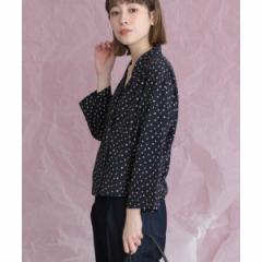 KBF(KBF)/レディスシャツ(変形ドットオープンカラーシャツ)
