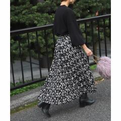 コカ(coca)/上品花柄ロング丈プリーツスカート