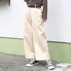 コーエン(レディース)(coen)/チノセミワイド8分丈パンツ