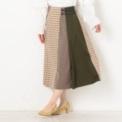 アルシーヴ(archives)/チェック配色ベルト付スカート