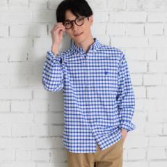 コーエン(メンズ)(coen)/ドライファブリックチェックオックスフォードボタンダウンシャツ