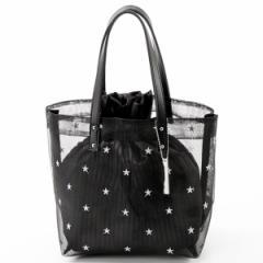 ミアン(MIAN )/メッシュ星柄刺繍トートバッグ