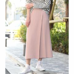 ビス(ViS)/【WEB限定】リブニット巻きスカート