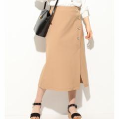 ビス(ViS)/【EASY CARE】フロントボタンアシンメトリースカート