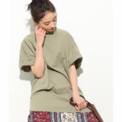 ビス(ViS)/【WEB限定】半袖スリット入りTシャツ