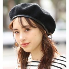 ビス(ViS)/合皮パイピング付きサーモベレー帽