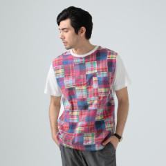 ビームス ライツ(メンズ)(BEAMS LIGHTS)/BEAMS LIGHTS / マドラス パッチワーク Tシャツ