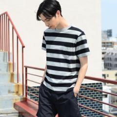 コーエン(メンズ)(coen)/USAコットンボーダークルーネックTシャツ