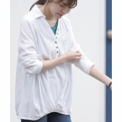 アール・ピー・エス(r.p.s)/多釦裾タック長袖シャツ