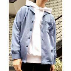 ウィゴー(メンズ)(WEGO)/WEGO/フィブリルオープンカラーシャツ